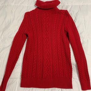 Red Croft & Barrow Turtleneck Sweater